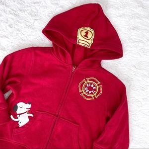 Firefighter Themed Hoodie w/ Dalmation